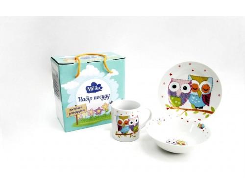 Детский набор столовой посуды для завтрака Milika Sweet Dreams 3предмета M0690-TH5761 PM