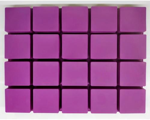 Силиконовая форма Ytech для выпечки квадратная на 20 ячеек Фиолетовая