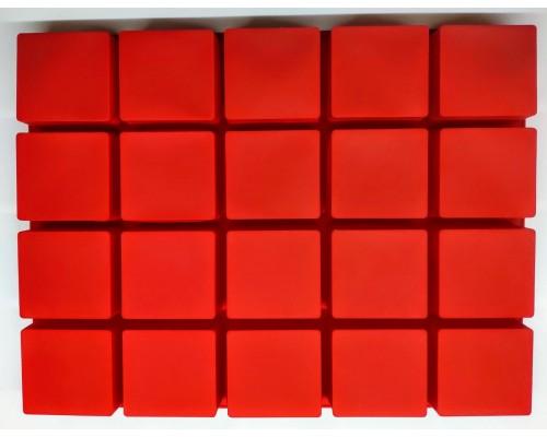 Силиконовая форма Ytech для выпечки квадратная на 20 ячеек Красная