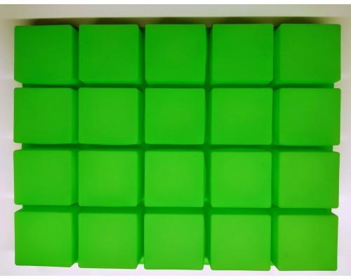 Силиконовая форма Ytech  для выпечки квадратная на 20 ячеек Зеленая