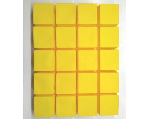 Силиконовая форма Ytech для выпечки квадратная на 20 ячеек Желтая