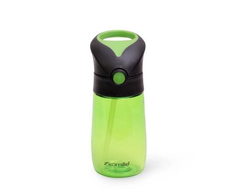 Бутылка детская для воды 350 мл. из пластика зеленая  Kamille 2300 PM