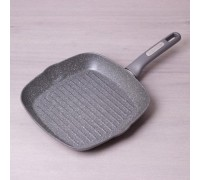 Сковорода-гриль с Kamille d-28 см с гранитным антипригарным покрытием КМ-4278 PM