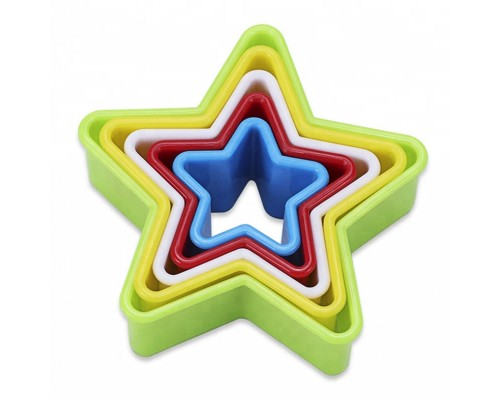 Вырубка для теста звезда двухсторонняя 5 штук в наборе PM