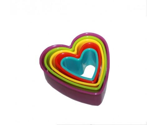 Вырубка для теста и мастики Сердечки 5 шт в наборе PM