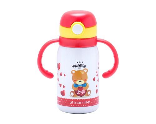 Термос-бутылка детская 300 мл. Kamille 2027-300 нержавеющая сталь PM
