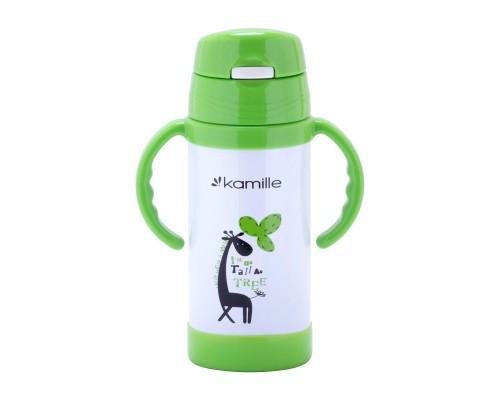 Термос-бутылка детская 350 мл. Kamille 2085 нержавеющая сталь PM