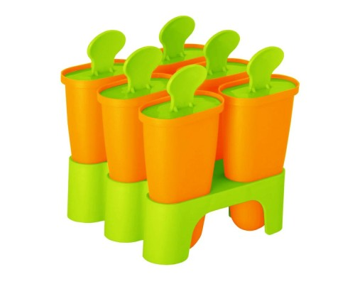 Форма для приготовления мороженого Алеана оранжевая PM