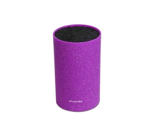 Подставка для ножей Kamille 18 см фиолетовый мрамор КМ-7604 PM