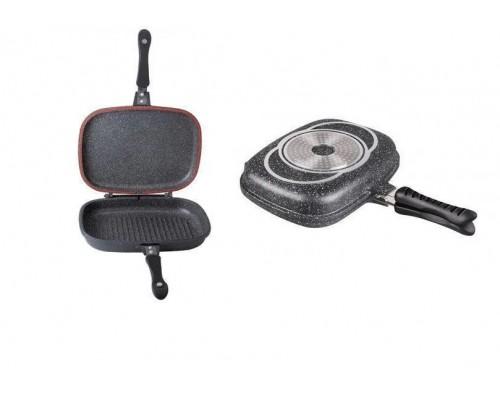 Сковорода гриль мраморным покрытием Bohmann BH-1700-32-MRB PM