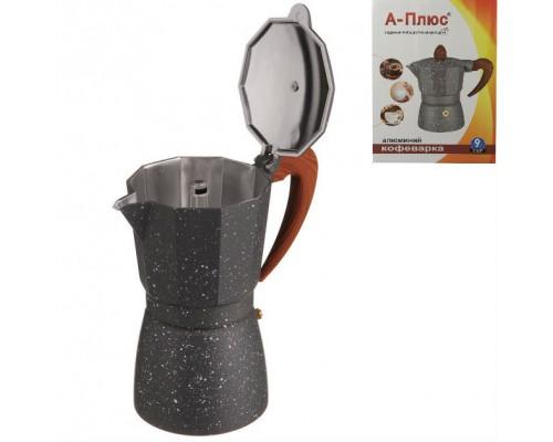 Кофеварка гейзерная 390 мл алюминиевая A-PLUS 2086 PM