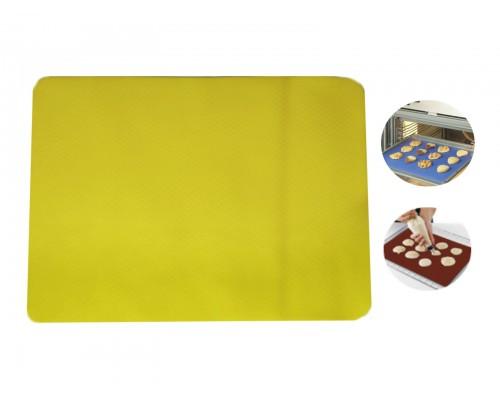Коврик силиконовый для выпечки рифленый 37 х 27 см желтый Stenson PM