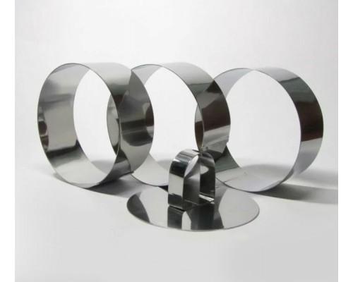 Набор 3 формы для гарнира круглые d-10 см с прессом Dynasty GA-25006 PM