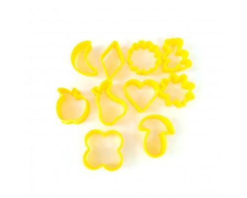 Набор форм для печенья пластиковых 10 шт Желтый Ytech PM