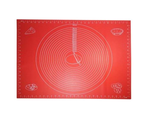 Коврик Силиконовый Kamille 60 на 45 см high quality красный