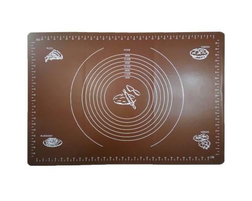 Силиконовый коврик A-PLUS 65 х 45 см для раскатки теста коричневый