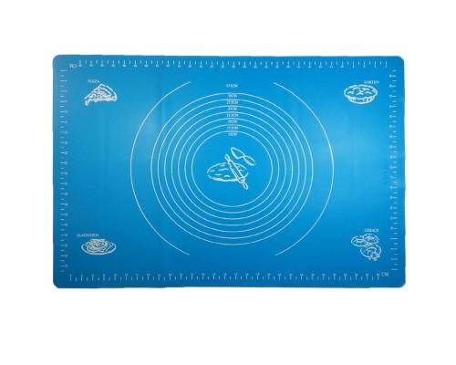 Силиконовый коврик A-PLUS 65 х 45 см для раскатки теста синий