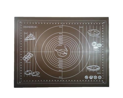 Силиконовый коврик Genes 70 на 50 см для раскатки теста коричневый