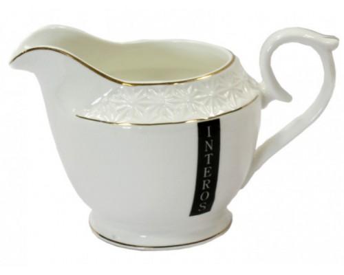 Молочник фарфоровый белый 200 мл Снежная королева Interos 453508 PM