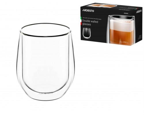 Набор чашек Ardesto с двойными стенками 250 мл h- 9,5 см 2 шт боросиликатное стекло AR2625G PM