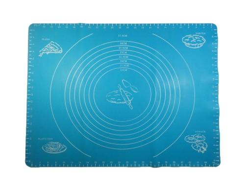 Силиконовый коврик A-PLUS для выпечки и раскатки теста 50*40 см синий