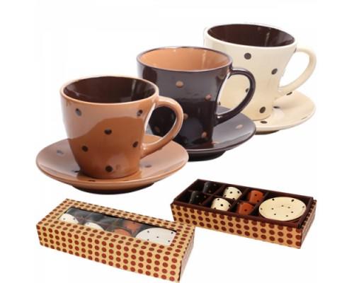 Сервиз кофейный S&T 1533-02 Карамель 12 предметов.