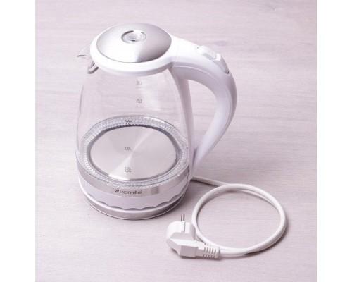 Чайник Kamille 1701A 1,5 литра, электрический с синей LED подсветкой.