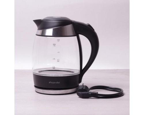 Чайник Kamille 1704B объем 1,8 литра, электрический с синей LED подсветкой.