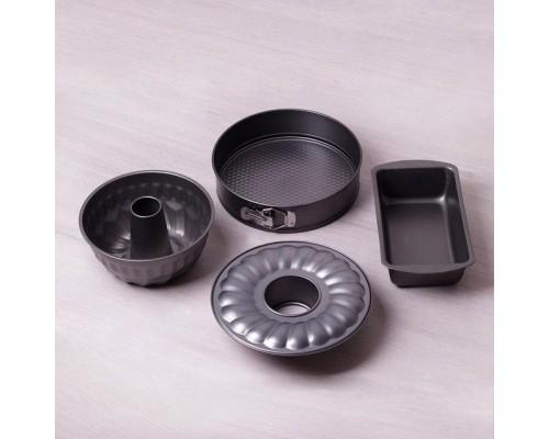 Набор форм для выпечки Kamille 6030 4шт из углеродистой стали.