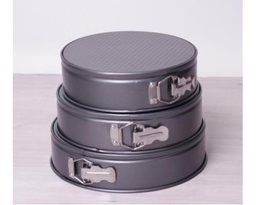 Набор круглых форм для выпечки Kamille 6000 3шт. с разъемными бортами.