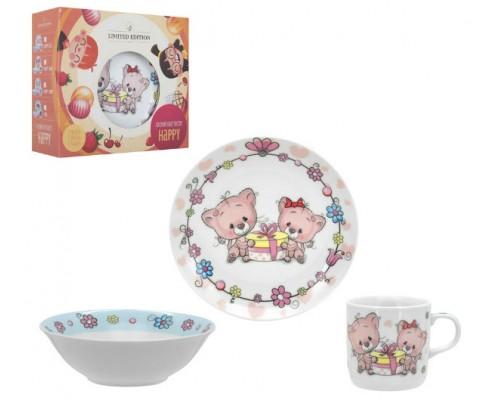 Детский набор посуды HAPPY CATS 3 пр LIMITED EDITION C-551 PM