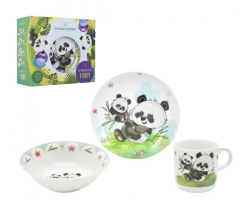 Детский набор посуды PANDA 3 пр LIMITED EDITION C-555 PM