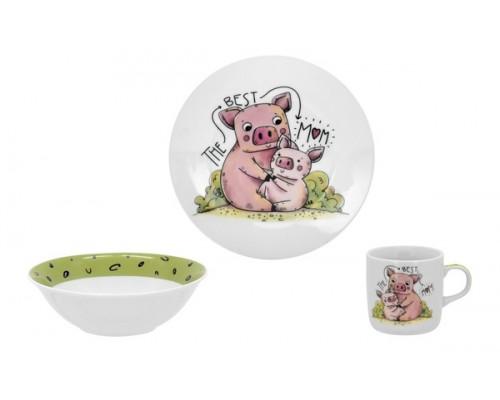 Детский набор посуды PIGGY 3 пр LIMITED EDITION C-528 PM