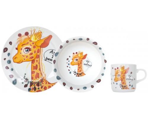 Детский набор посуды PRETTY GIRAFFE 3 пр LIMITED EDITION C-389 PM