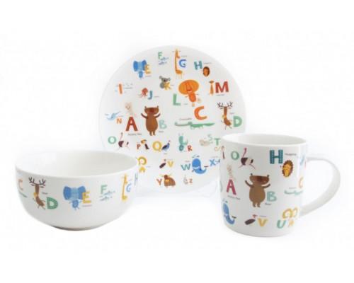 Детский набор столовой посуды ABC 3 предмета Astera A0690-KS-06 PM