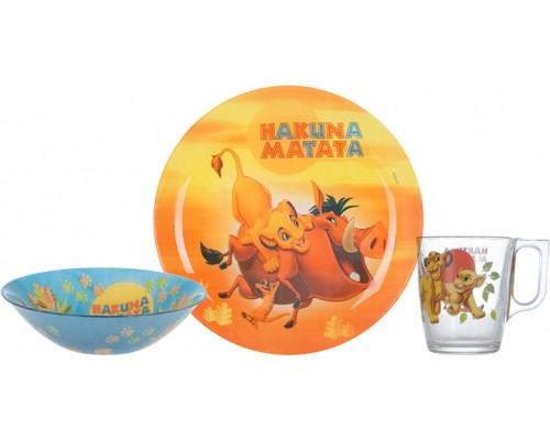 Набор детский Luminarc Disney Disney Lion King  3 предмета 9345P LUM PM