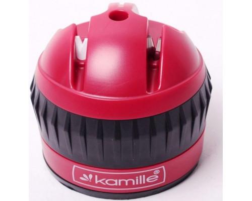 Точилка для ножей  6 х 6 х 6.5 см с присоской Kamille KM-5702 PM