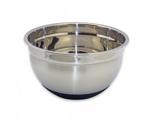 Миска Kamille 4344 Ø22*12 см. из нержавеющей стали с антискользящим силиконовым дном.