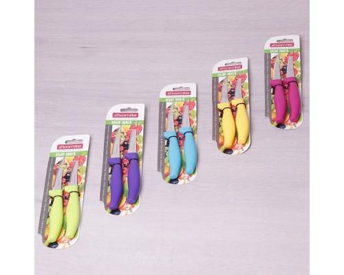 Кухонные ножи из нержавеющей стали с пластиковыми ручками 2 предмета лезвие 8 см Kamille 5310