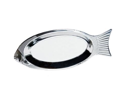 """Поднос Kamille 4339 """"Рыбка"""", 40 см, из нержавеющей стали."""