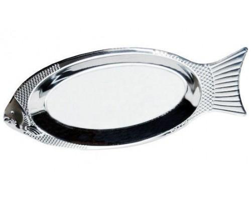 """Поднос Kamille 4338 """"Рыбка"""", 35 см, из нержавеющей стали."""