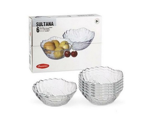 Набор салатников Pasabahce 10286 Султана диаметр 12,5 см.