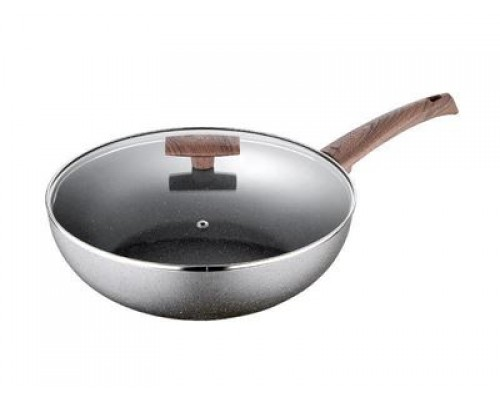 Сковорода Bergner 7958 Masterpro d-36*3,7 см, антипригарное покрытие.