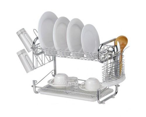 Сушка для посуды Kamille 0767 2-х ярусная 55*25*39,5 см.