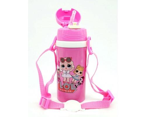 Термос детский 350 мл. A-PLUS из нержавеющей стали LOL розовый  PM