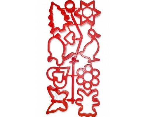 Набор форм для печенья пластиковых 8 шт Kamille 10105-PM