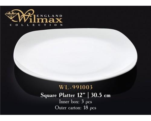 Блюдо Wilmax WL-991003 квадратное 30,5 см