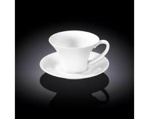 Чашка для капучино с блюдцем Wilmax WL-993169 180 мл.