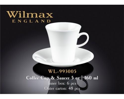 Чашка кофейная с блюдцем Wilmax WL-993005 160 мл.