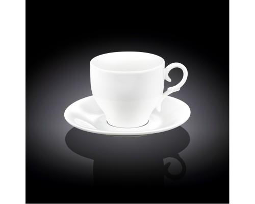 Чашка для капучино с блюдцем Wilmax WL-993104 170 мл.
